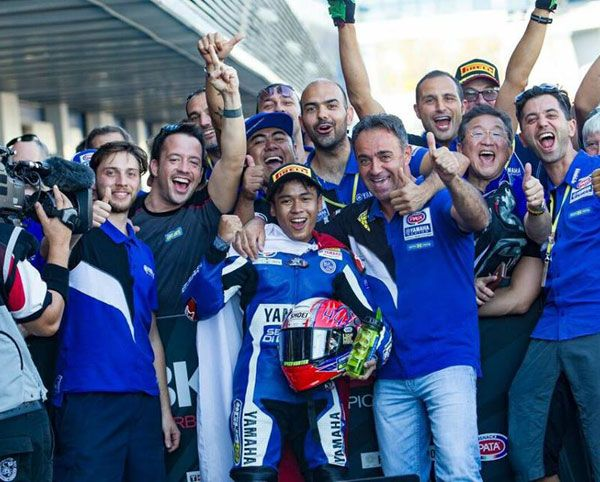 Kemenangan Galang Hendra di WSSP300 Jerez