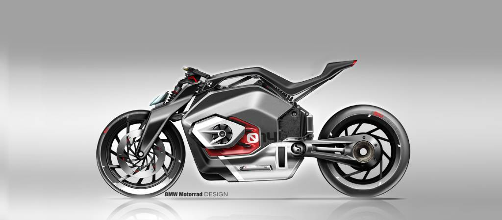 BMW Motorrad Vision DC Roadster - Konsep Motor ListrikBMW