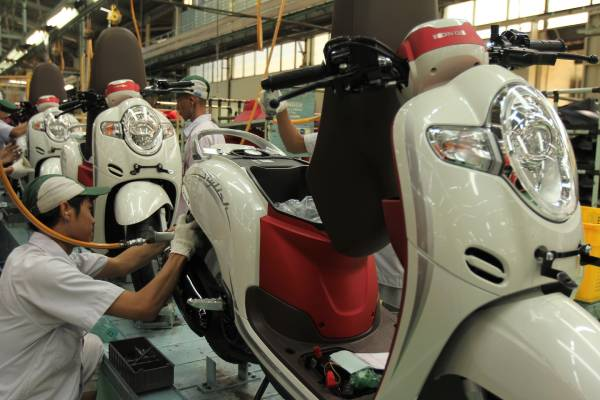 Honda Scoopy Stylish merah putih 2018
